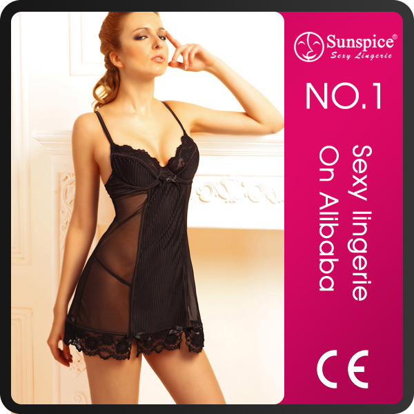 Hot sale stock best price USA small size catton hot babydoll sexy nude lingerie