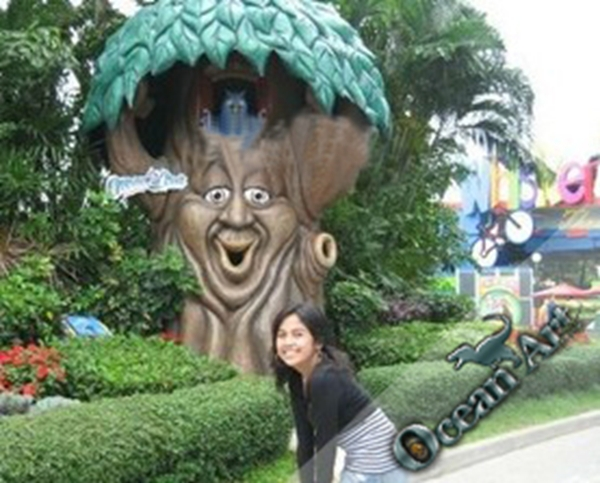 theme park animatronic talking tree for decoration