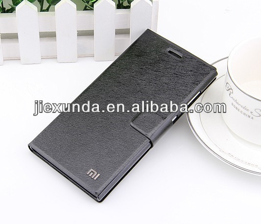 Free Shipping Xiaomi mi3 m3 Leather Case 100% Original High Quality Protective Flip Cover for Xiaomi Mi3 Smart Phone