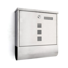 Stainless Steel Lockable Wall Mounted Mail Box