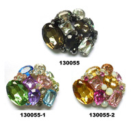 Uneteco jewelry factory fashion rhinestone sandal buckle and movable shoe clip for wholesale