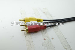 Gold plated 3 RCA TO 3 RCA CABLE