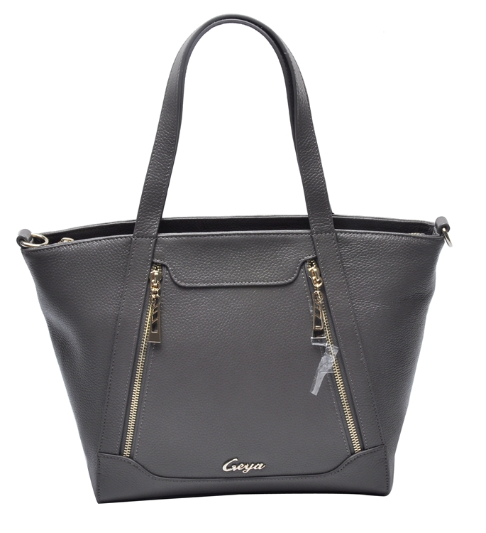Guangzhou manufacturer casual style genuine leeather women tote handbag wholesale price