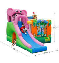 Inflatable kids bouncy castle inflatable bouncer with cartoon slide inflatable castle