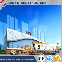 Steel Structure Glass Crtain Wall Used