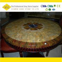 Mosaic coffee round agate marble table tops