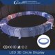 Nightclub Ceilling RGB 3D Ring Round Led Video Screen for Decoration