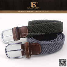 Customized handmade cotton fabric braided elastic stretch belt