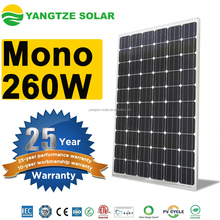 260W mono pv solar panels on flat roof