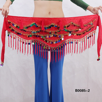 Velvet dance belt belly dance hip scarf belly dance belt with tassel stelisy B0085-2