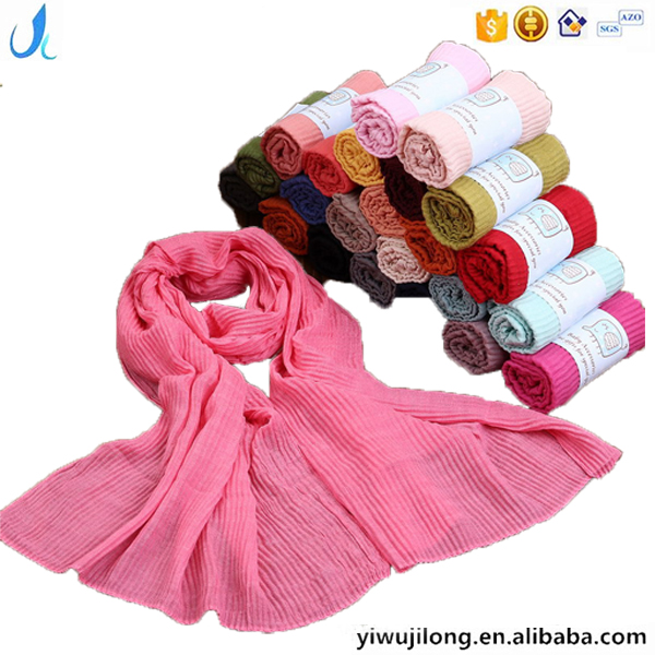 Classic fashion cute COTTON LINEN crinkle children scarf customized