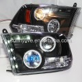 For Dodge Ram RAM PICK UP F1500 LED Headlight Angel Eyes 2009-2012 Year SN