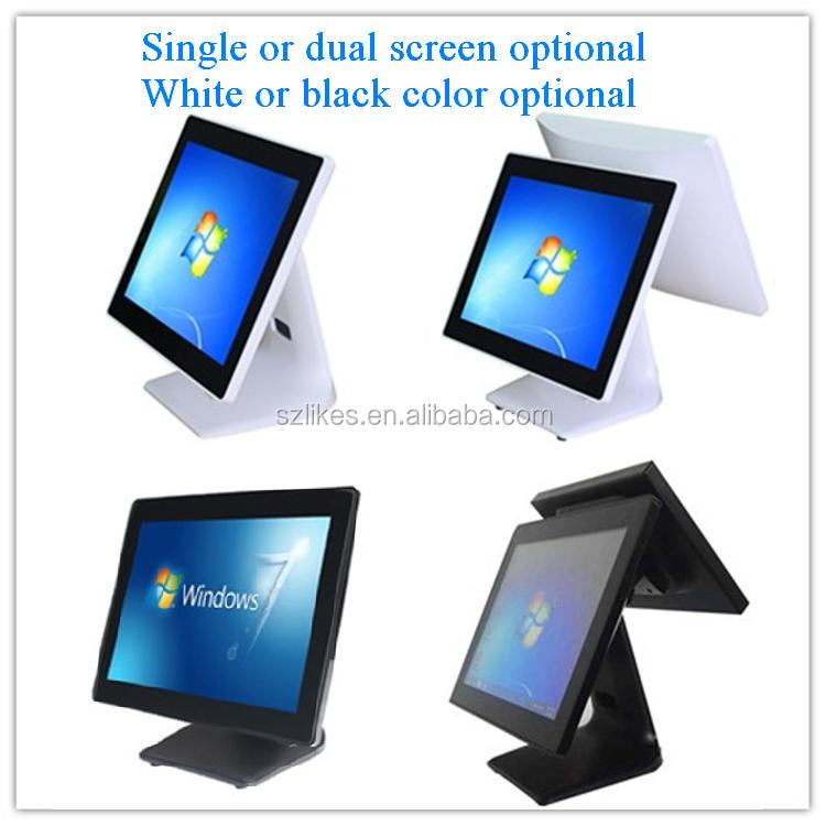 LKS-POS980 Aluminum shell super thin size all in one pure flat touch screen pos terminal