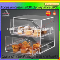 Cheap retail acrylic cupcake beverage display stand