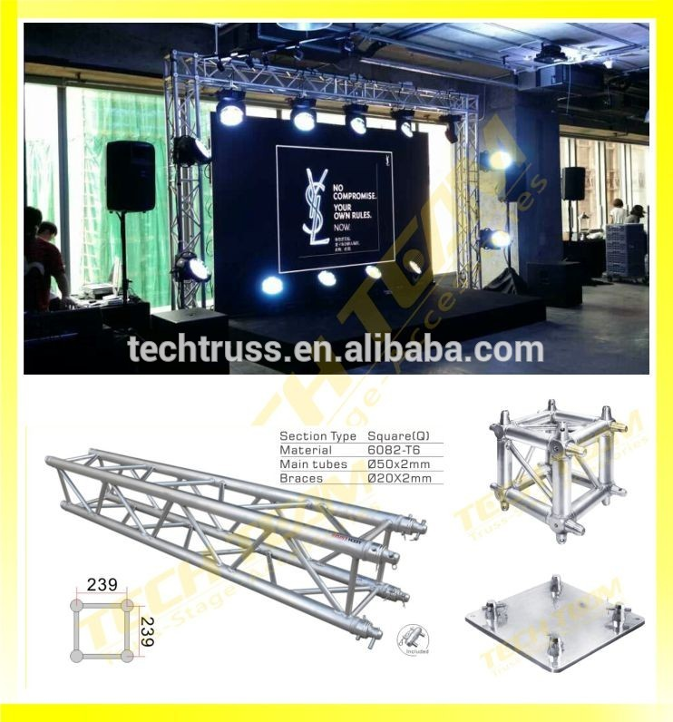 Portable dj truss arch dj trussing buy arch for Cheap truss systems