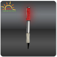 gift box packing metal ball pen with colorful light