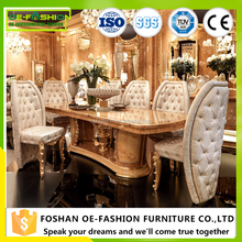 OE-FASHION Luxury wooden carving dining room table set homes furniture