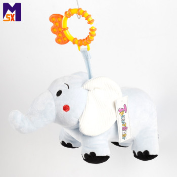 New products 2018 elephant stuffed animal crib hanging plush toy