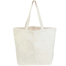 plain shopping bag large capacity canvas no minimum order handbags