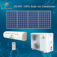 Split wall mounted portable 12000BTU 18000BTU 100% 48v dc solar powered air conditioners