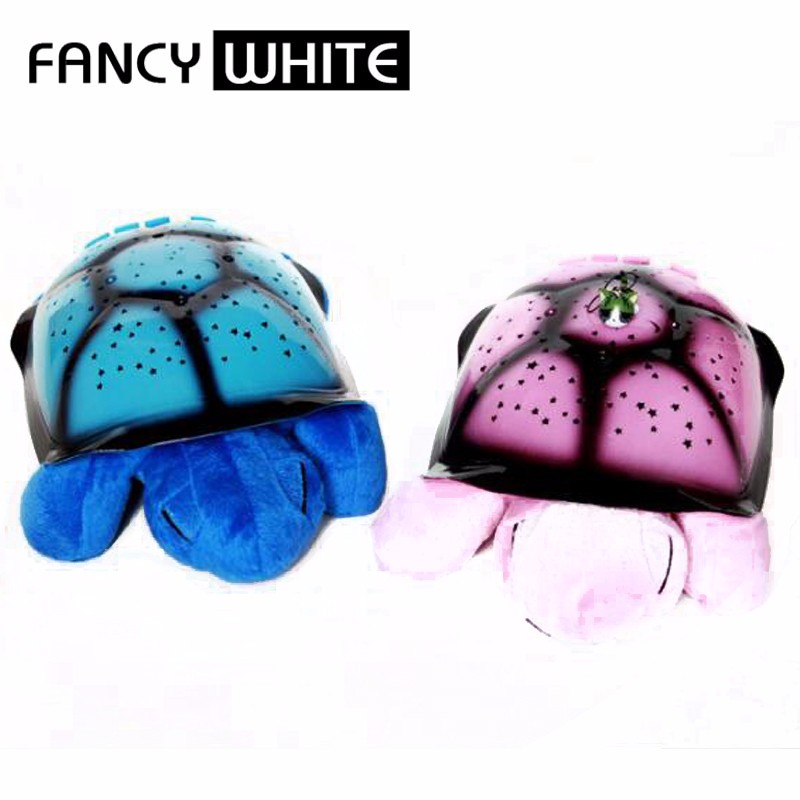 Room decoration USB turtle shape abs star ceiling lamp projector night light