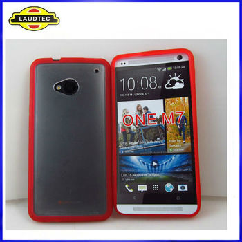 2013 Hot Selling TPU+PC Back Cover Case for HTC One M7 Wholesale in Laudtec