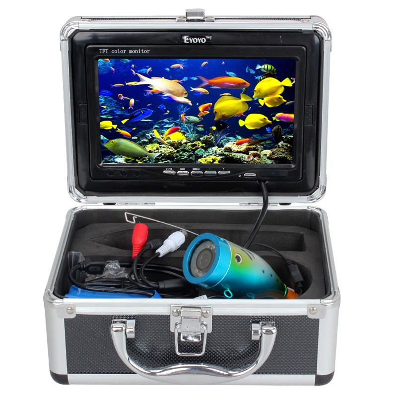 15m EYOYO 110-7L Fish Finder Underwater Ice Fishing HD Camera 7'' Monitor