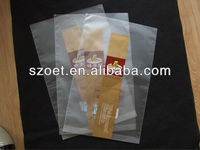 perforated polypropylene bag for hamburgers, chicken coke and French fries
