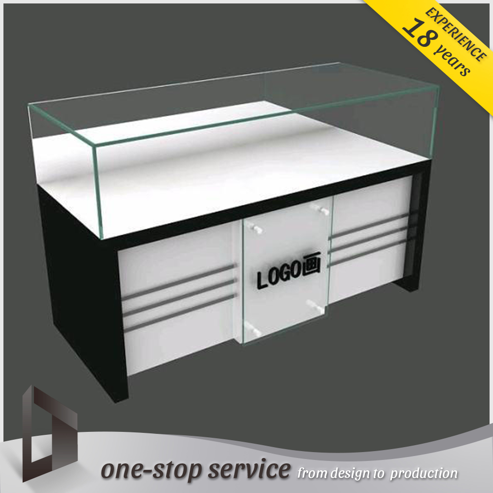 jewellry display counter custom logo glass display cabinet for jewelry shop design