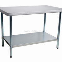 Stainless Steel Work Bench With Top