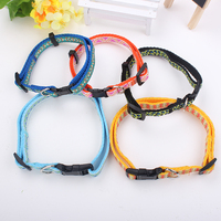 nylon poyester pp personalized dog collar with logo
