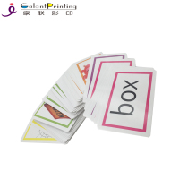 Custom cmyk printing both sides educational math number learning flash cards customized playing cards