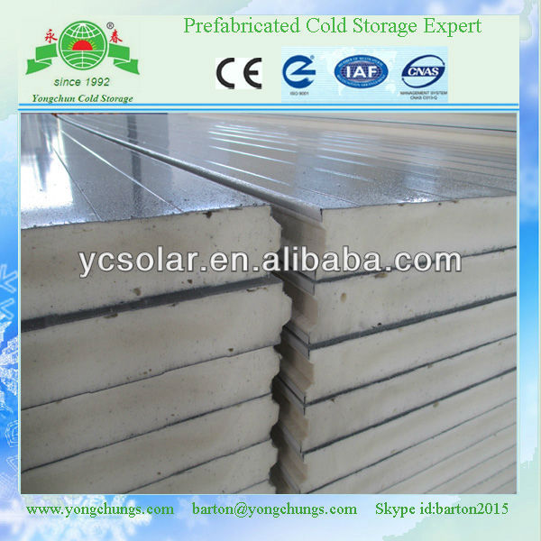 supplying philippines insulation pu sandwich panels for warehouse, cold room, cold store