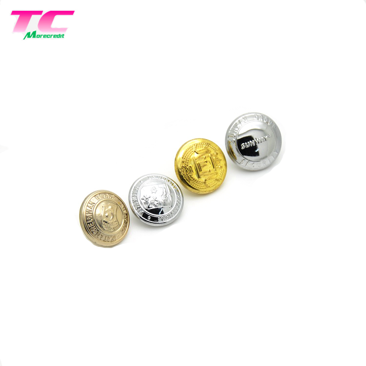 25mm own mark design sew metal button for clothing brass metal图片