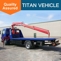 wrecker tow truck , flat road removal truck wrecker , Breakdown Recovery Truck vehicle with 5 tons crane