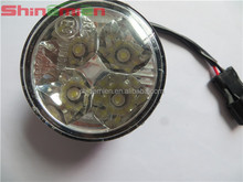Auto Car 4 LED Round DRL Daytime Running Day Driving Bulb Fog Light Lamp 12V 5W