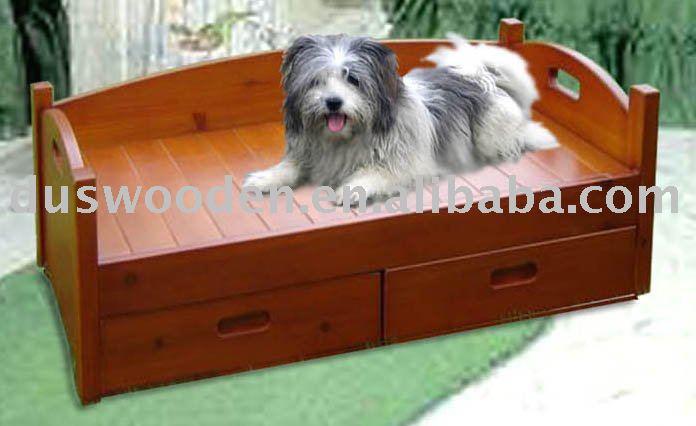 bois lit pour chien cage caisse transporteur maison pour animaux domestiques id de produit. Black Bedroom Furniture Sets. Home Design Ideas