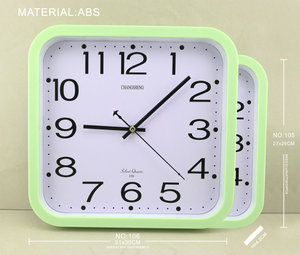 Modern Design Big Square Wall 12 Frames Sugar Color Clock