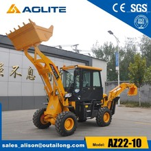 small backhoe loader with 0.1cbm back digging bucket