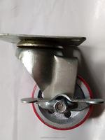 3 Inch Light Duty PU Steel Wheel Trolley Casters Locking
