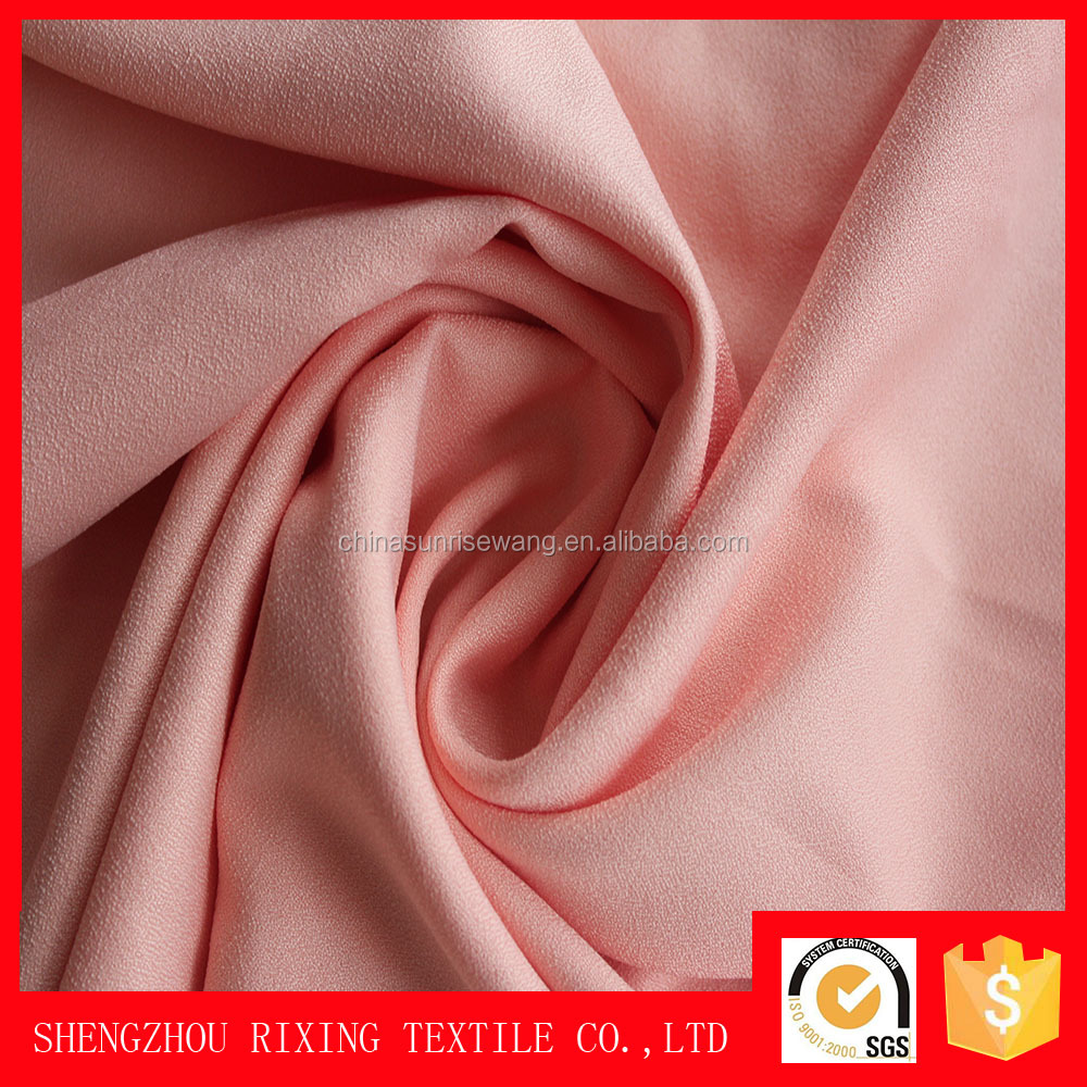 100%polyester 200D moss crepe fabric for wedding dress