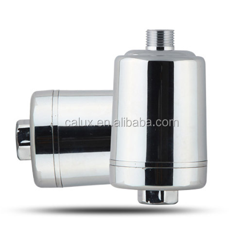 2017 New 8-stage Chrome Shower Filter / Universal High Output Shower Water Purifier / Remove Chlorine Fluoride for Health