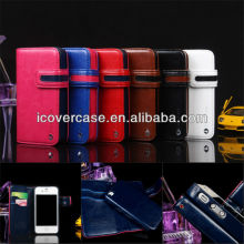 Wallet PU Leather Case for iPhone 4 4s Pouch With Card Holders Stand Flip Cover
