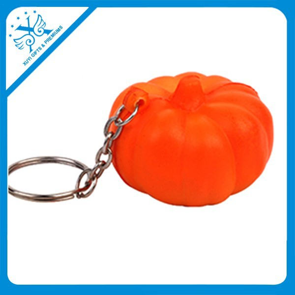 2015New desig PU keychains for pumpkin