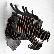 2016 wooden dragon head wall hanging decor