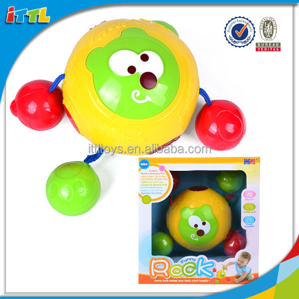 Funny baby product plastic intelligent cute rolling ball toy