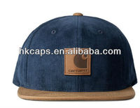 Full corduroy fabric hat/blank corduroy design caps/colorful hats