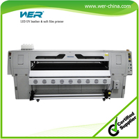 2015 new design 1.8m led uv digital leather printing machine