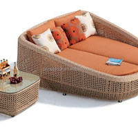 Synthetic Rattan Outdoor Furniture Modular Sunbed