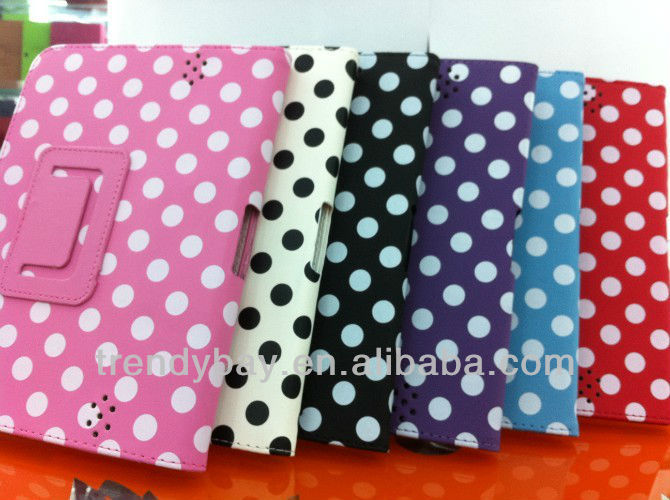 Polka dot Leather Case For Kindle Fire HD7